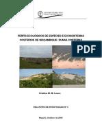 Perfis Ecologicos de Especies e Ecossistemas Costeiros em Mocambique DUNAS COSTEIRAS