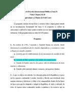 Examen de Derecho Internacional Público (Tema 9)