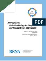 Syllabus RadiationBiology 2007