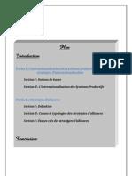 Internationalisation & Strategies d'Alliances