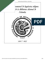 Anónimo - 2015 - Raro Manuscrito 158 de la Biblioteca Nacional de Colombia, Diccionario y Gramática