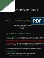 CLASES DE COSTOS C-08 - 2020-II