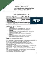 baseball lesson plan 2 evaluation