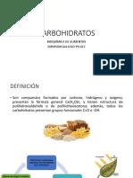 BIOQUÍMICA DE ALIMENTOS Clase 3 y 4 CHOS
