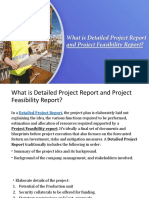Detailed Project Report And Project Feasibility Report