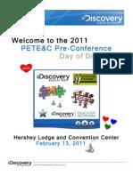 PETE&C PreCon Agenda 2011