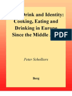 Cooking, Eating and Drinking in Europe since the Middle Ages