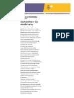 Démocrite et les Abdéritains - Jean de LA FONTAINE - Vos poèmes - Poésie française - Tous les poèmes - Tous les poètes