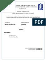 PRÁCTICA 4 CIRCUITOS RESISTIVOS DE CORRIENTE DIRECTA
