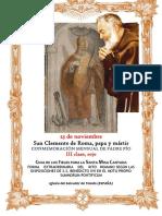 23 de noviembre. San Clemente de Roma. Conmemoración del Padre Pio. Guía de los fieles para la santa misa cantada. Kyrial de Angelis