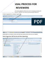 APPRAISAL PROCESS FOR REVIEWERS - AUGUST 2015A