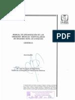 Manual de Organizacion de Las Unidades Medicas Hospitalarias de Segundo Nivel de Atencion (1) (1)