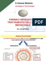 SMO Lezione 3 Farmaci antiasmatici e antidiabetici