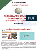 SMO Lezione 5 Farmaci del SNC e del sistema nervoso autonomo 1 parte