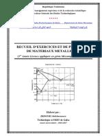 Fascicule de Problemes de Materiaux Metalliques (1)