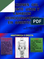 POSICIONES DEL PACIENTE- USOS  Y  CAMBIOS  HEMOD  EN ANESTESIA