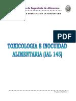 TOXOCOLOGIA  E INOCUIDAD ALIMENTARIA