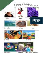 Materiales para trabajar la Dislexia. 1. La l.