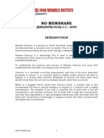 PROJECT REPORT ON RO MEMBRANE