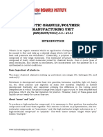 PROJECT REPORT ON PLASTIC GRANULE/POLYMER MANUFACTURING UNIT