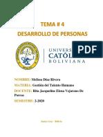 (DESAROLLO DE PERSONAS)- Melissa Diaz