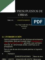CLASES DE COSTOS C-01 - 2020-II