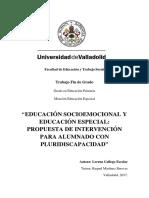 """EDUCACIÓN SOCIOEMOCIONAL Y EDUCACIÓN ESPECIAL PROPUESTA DE INTERVENCIÓN PARA ALUMNADO CON PLURIDISCAPACIDAD"""".pdf"""