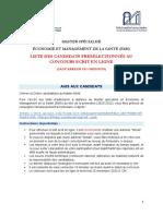 Economie Et Management de La Sante Tn