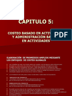 CAP5_COSTEO BASADO EN ACTIVIDADES Y ADM.BASADA EN ACTVDS.