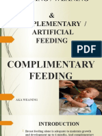 5.2. SUPPLEMENTARY & ARTIFICIAL FEEDING AND WEANING