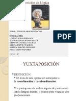 TIPOS DE ARGUMENTACION -  EXPO LOGICA