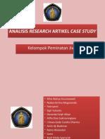 ANALISIS RESEARCH ARTIKEL CASE STUDY