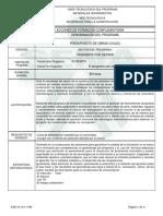 Informe Programa de Formación Presupuesto