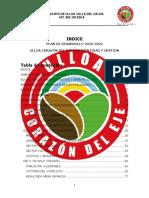 PLAN DE DESARROLLO ULLOA CORAZON DEL EJE CON IDENTIDAD Y GESTION