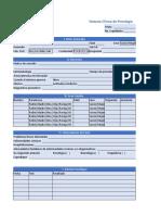 Historia Clinica Psicologia Ejem Azul Excel