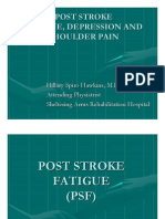 post stroke fatigue depression and shoulder pain