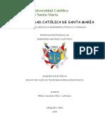 PEREZ VALDIVIA FELIX, ENSAYO DE TRANSFORMADORES MONOFASICOS