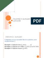 Chapitre 1 Alphabet et langages