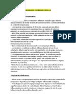 MEDIDAS DE PREVENCIÓN COVID 19