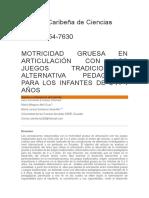 MOTRICIDAD GRUESA EN ARTICULACIÓN CON LOS JUEGOS TRADICIONALES