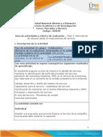 Guía de Actividades y Rúbrica de Evaluación - Unidad 2 -Paso 3- Alternativas de Solución Desde El Marketing y El Mejoramiento Del Servicio