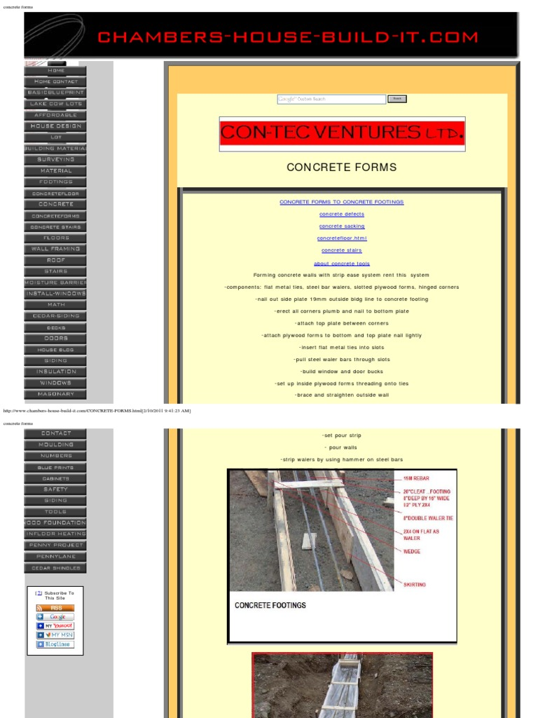 concrete forms | Framing (Construction) | Wall
