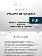 PRESENTACIÓN DOCUMENTO EVALUACIÓN EN PANDEMIA