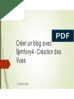 Chap2-Créer un blog avec Symfony4 - Création des Vues