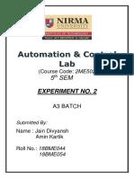 18BME054_A&C_EXPERIMENT_2