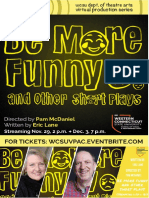 Program - Be More Funny, and Other Short Plays