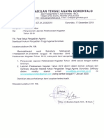 surat laporan pelaksanaan kegaiatan 2019