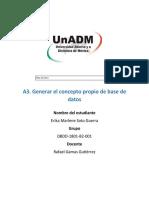 Actividad 3 Generar El Concepto Propio de Base de Datos