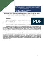 Crime de Responsabilidade São Paulo Covid-19