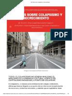 Dos tesis sobre colapsismo y decrecimiento